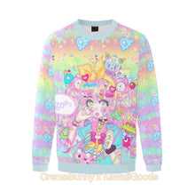 Load image into Gallery viewer, Creme Bunny x Kawaii Goods Decora Girl Party Sweater (Made to Order)