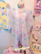 Load image into Gallery viewer, Heart Confetti Party Yume Kawaii Kimono Robe Cardigan Top (Made to Order)