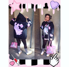 Load image into Gallery viewer, Painfully Hurt Bunny Bandage Sweater, Yami Kawaii Hoodie (Made to Order)