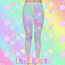Load image into Gallery viewer, Alien Ice Cream Scoops Monster Party Tights Leggings  (Made to Order)