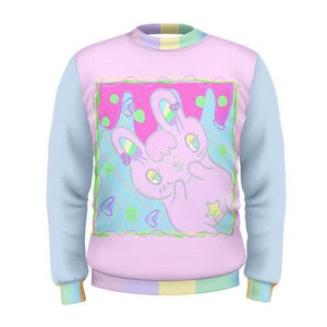 Pastel Killer Bunny Warrior Sweater (Made to Order)