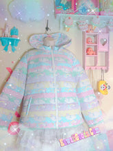 Load image into Gallery viewer, Sweetie Dreams and Trixie Dreamy Clouds Yume Kawaii Puffy Hoodie Jacket (Made to Order)