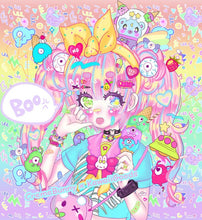 Load image into Gallery viewer, Creme Bunny x Kawaii Goods Decora Girl Party Chiffon Dress (Made to Order)