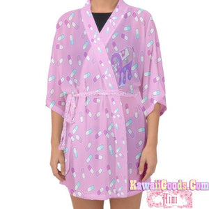 Manic Nurse and Hurt Bunny Aini x Kawaii Goods Kimono Cardigan (Made to Order)