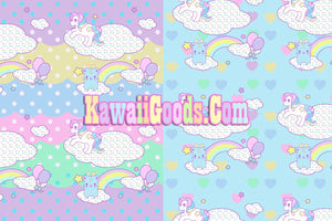 Sweetie Dreams and Trixie Dreamy Clouds Yume Kawaii Puffy Hoodie Jacket (Made to Order)