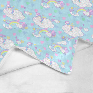 Sweetie Dreams and Trixie Yume Kawaii Fairy Kei Fleece Blanket  (Made to Order)