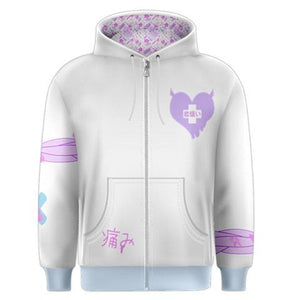 Painfully Hurt Bunny Bandage Sweater, Yami Kawaii Hoodie (Made to Order)