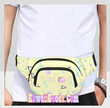 Load image into Gallery viewer, Geometric Barbie Inspired 80s Yume Kawaii Fanny Pack (Made to Order)