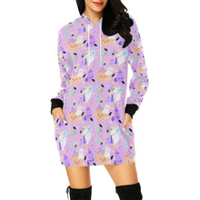 Load image into Gallery viewer, Candy Cemetery Alien Ghost Bear and Witch Bear Hoodie Dress(Made to Order)