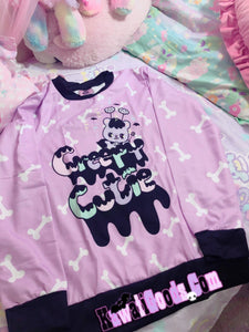 Creepy Cutie Spooky Emotion Bear Sweater (Made to Order)