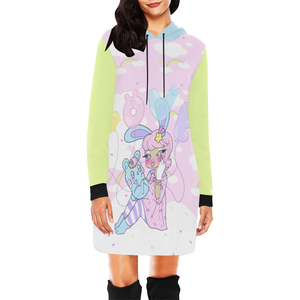 Gianella Baby x Kawaii Goods Collab Bunny Girl LOVE Balloons Hoodie Dress (made to order)