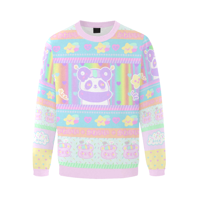 Mimi the alien panda and Emotion Bear Dreamy Sweater (made to order)