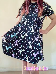 Pastel Candy Bones Sprinkles Halloween Dress