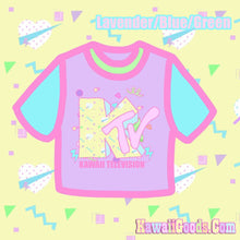 Load image into Gallery viewer, KTV Kawaii Television Crop Top
