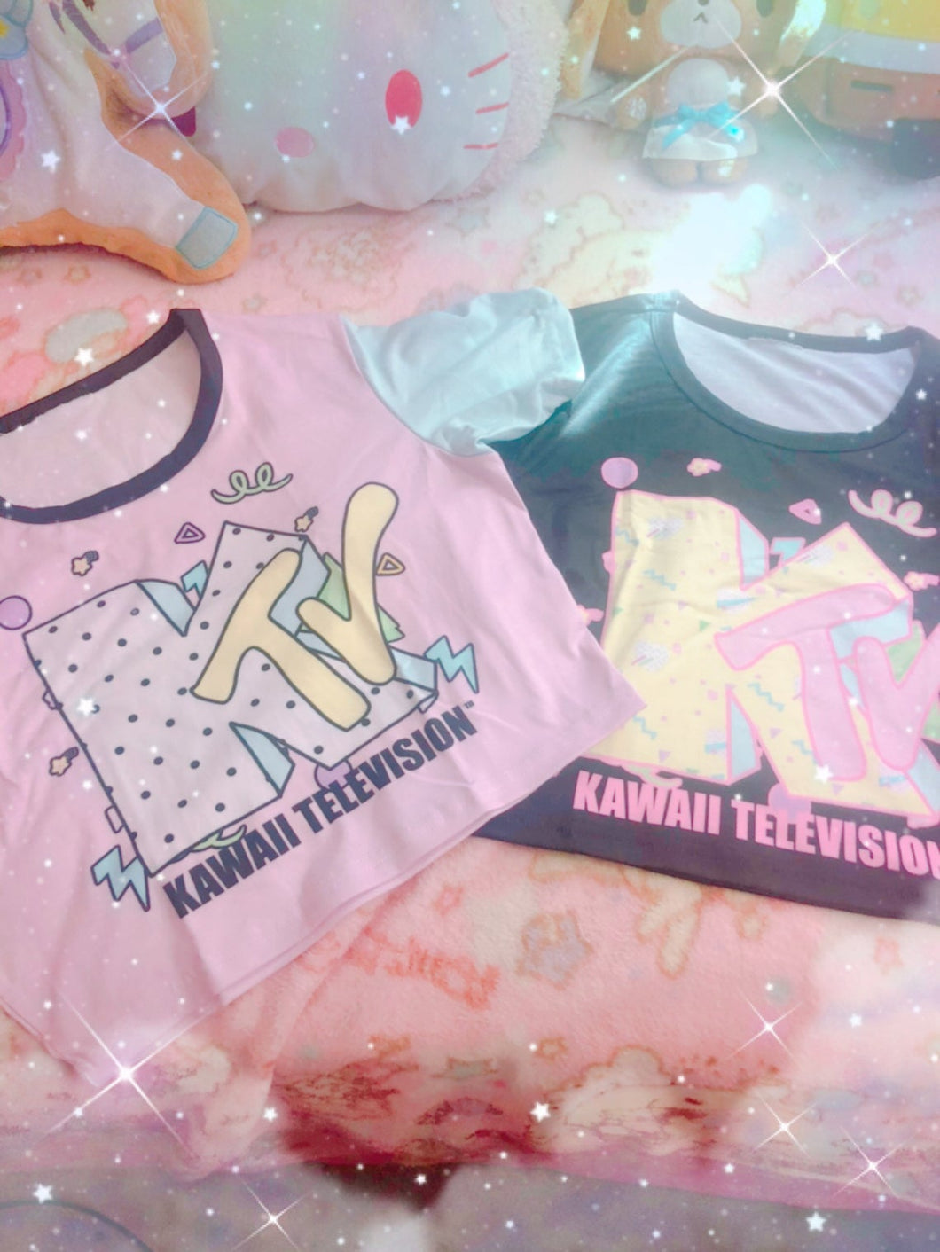KTV Kawaii Television Crop Top