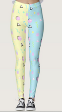 Load image into Gallery viewer, Geometric Inspired Barbie Yume Kawaii Leggings (Made to Order)