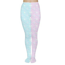 Load image into Gallery viewer, Geometric Heart 80s Yume Kawaii Leggings (Made to Order)