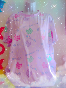 Pixel Bunny Emoticons Yume Kawaii Shirt (made to order)