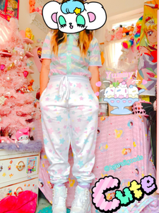 Starry Rainbow jogger pants (Made to Order)