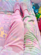 Load image into Gallery viewer, Dreamy Alien Junk Food Party Kawaii jogger pants (Made to Order)