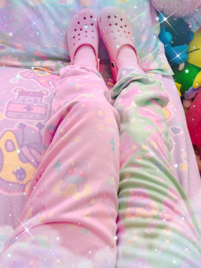 Dreamy Alien Junk Food Party Kawaii jogger pants (Made to Order)