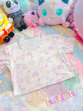 Load image into Gallery viewer, Sweetie Dreams and Trixie 80s parfait kawaii Crop Top (Made to Order)