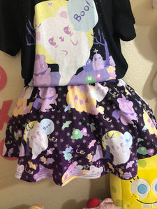Candy Cemetery Creepy Cute Witch Bear Suspender Skirt