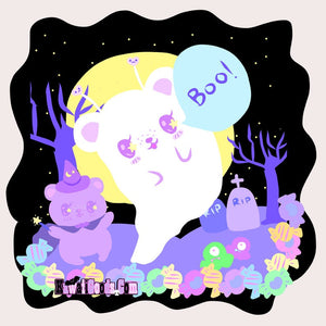 Alien Bear Ghost and Witch Bear Shirt (Made to Order)