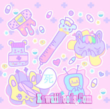 Load image into Gallery viewer, Hurt Bunny Bear Nurse Death Yami Kawaii (Made to Order)