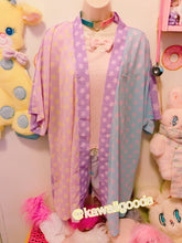 Load image into Gallery viewer, Starry Colorblock Pastel Yume Kawaii Kimono Robe (Made to Order)