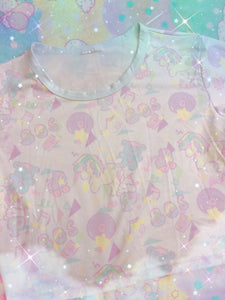 Sweetie Dreams and Trixie 80s parfait kawaii Crop Top (Made to Order)