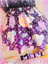 Load image into Gallery viewer, Candy Cemetery Creepy Cute Witch Bear Suspender Skirt