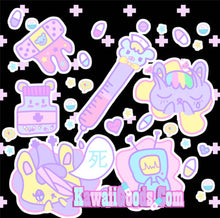 Load image into Gallery viewer, Hurt Bunny Bear Nurse Death Yami Kawaii Joggers (Made to Order)