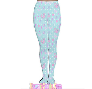 Hurt Bear Pixel Game Tights, Hurt Bear Tights (Made to Order)