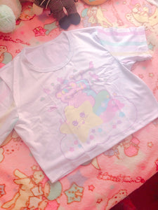 Kikko Tv and Emotion Bear kawaii Crop Top (Made to Order)