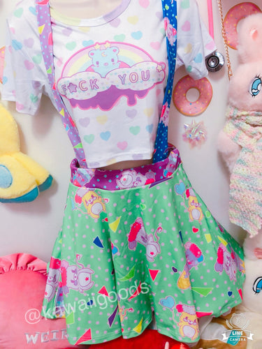 Popples Sweets 80s Yume Kawaii Suspender Skirt