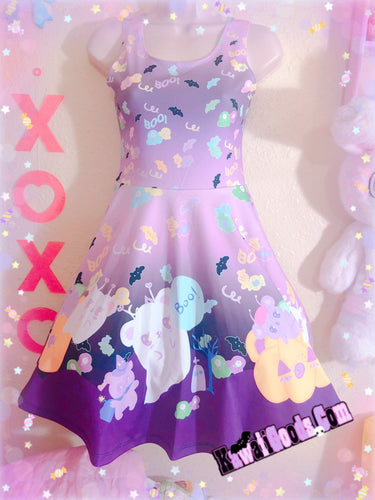 Candy Cemetery Creepy Cute Witch Bear Dress (Made to Order)