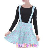 Load image into Gallery viewer, Hurt Bear Pixel Game Suspender Skirt (Made to Order)