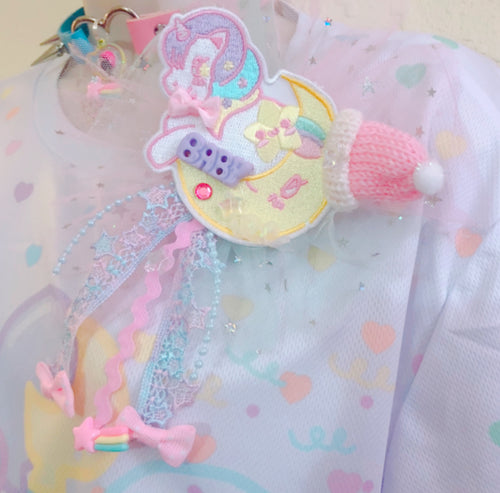 Sweetie Dreams the Unicorn Deco 2-way clip tulle bow ver.2