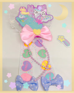 Cici the Bunny LOVE Balloon Rosette 2-way clip