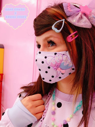 Aana Kawaii x Kawaii Goods Popkei Melty Heart Balloons Face Mask (Made to Order)