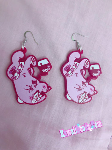 Hurt Bunny Yami Kawaii Menhera Earrings
