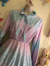 Load image into Gallery viewer, Dreamy Gradient Starry Chiffon Dress (Made to Order)