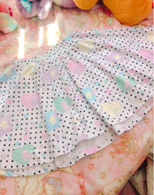 Load image into Gallery viewer, Polkadot Heart Pop Kei Fairykei Skirt (Made to Order)