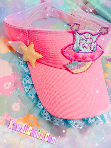 Copy of Trixie the space alien UFO Visor Hat (Made to Order)