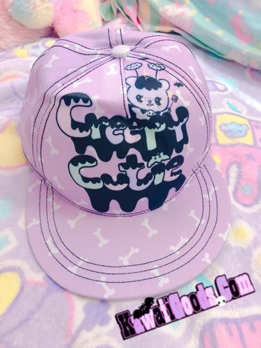 Creepy Cutie Hat, Pastel Goth Hat (Made to Order)
