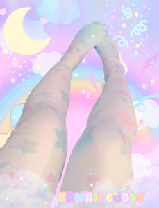 Starry Dreamy Tights, Fairy Kei Tights (Made to Order)