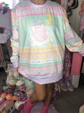 Load image into Gallery viewer, Kawaii Pastel Shooting Star Emotion Bear Fairy Kei Sweater