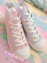 Load image into Gallery viewer, Pastel Alien Bears Gingham Shoes Men (Made to Order)