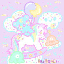 Load image into Gallery viewer, Sweetie Dreams Rocking Horse and Trixie the Alien (made to order)